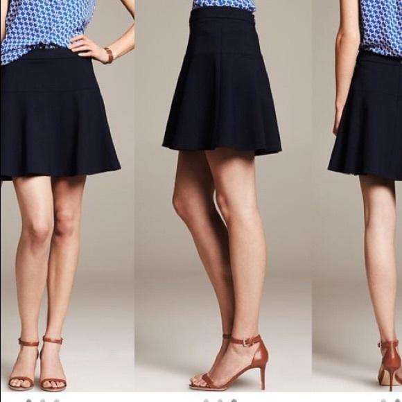1dcf5debad8ec1 Banana Republic Skirts | Wool Blend Fit Flare Skirt Euc | Poshmark